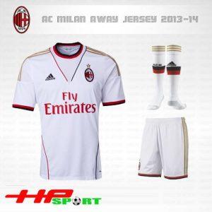 Áo AC Milan 2013-2014 sân khách màu trắng