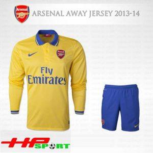 Áo Arsenal sân khách 2013-2014 tay dài