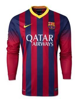 Áo Barcelona sân nhà dài tay 2013-2014