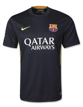 Áo Barcelona sân khách 2013-2014 màu đen