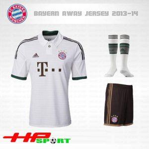 Áo Bayern 2013-2014 sân khách màu trắng, áo sân khách bayern 2013-2014