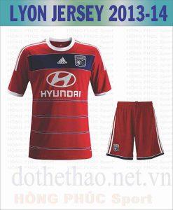 Áo Lyon 2013-2014 đỏ sân khách