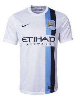 Áo Man City trắng sân khách 2013-2014, áo đá banh Man City trắng sân khách 2013-2014