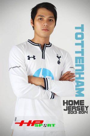 Mẫu áo bóng đá CLB Tottenham sân khách 2013 – 2014