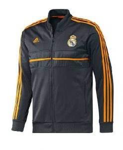 Real Madrid 13 14 Anthem jacket Dark Grey
