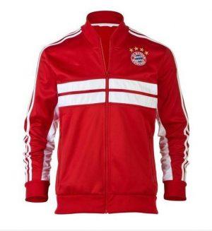 Áo khoác Bayern Munich 2013-2014 đỏ, áo khoác đá banh Bayern Munich đỏ 2013-2014, áo khoác bóng đá Bayern Munich đỏ 2013-2014
