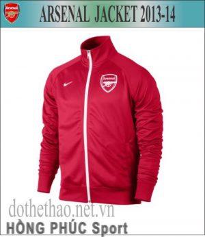 Áo khoác Arsenal đỏ 2013-2014, áo khoác CLB Arsenal 2013-2014, áo khoác nỉ CLB Arsenal 2013-2014