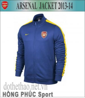 Áo khoác Arsenal 2014 xanh