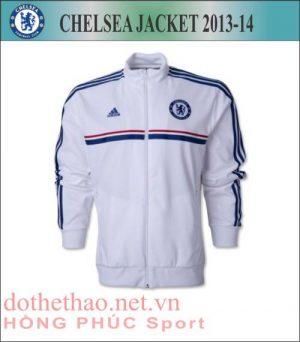 ao khoac chelsea trang, áo khoác Chelsea 2013-2014, áo khoác đá banh Chelsea 2013-2014, áo khoác bóng đá Chelsea 2013-2014