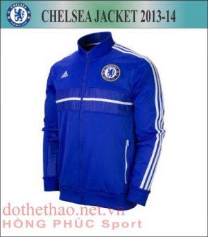 áo khoác nỉ xanh Chelsea 2013-2014