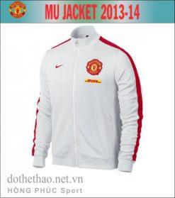 Áo khoác MU 2013-2014 trắng đỏ