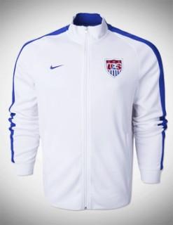 Áo khoác Mỹ trắng 2014, áo khoác tuyển USA trắng 2014, áo khoác thể thao Mỹ WC2014 trắng