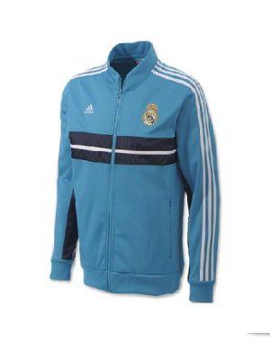 áo khoác đá banh Real Madrid xanh 2014, áo khoác bóng đá Real Madrid xanh 2014