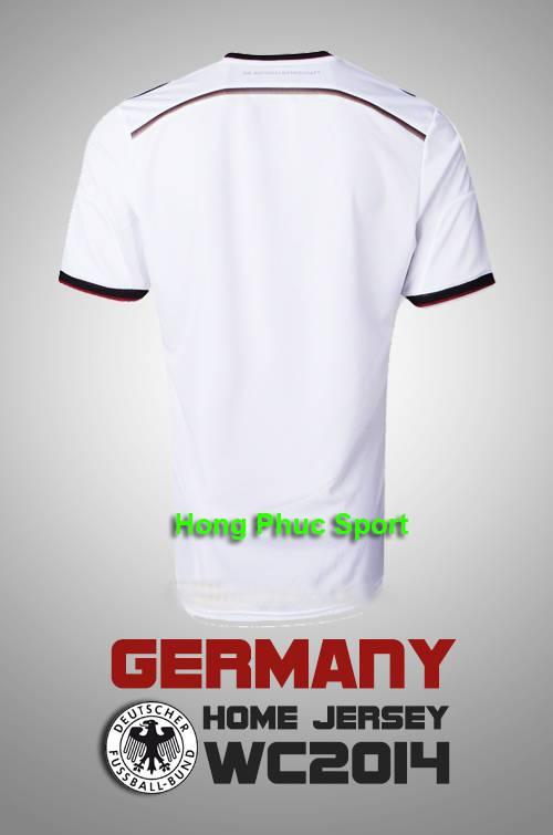 Mặt sau  áo bóng đá tuyển Đức
