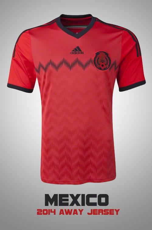 Áo tuyển Mexico WC2014 sân khách