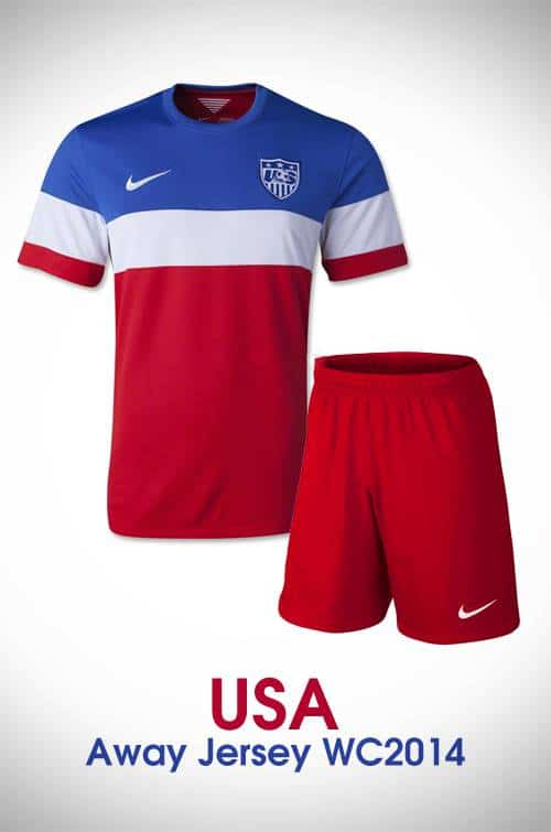 Hình ảnh mẫu áo bóng đá đội tuyển Mỹ sân khách 2014