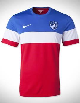 áo tuyển mỹ wc2014 sân khách màu đỏ sọc xanh trắng