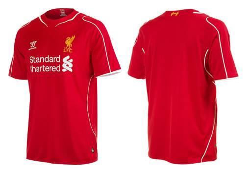 Áo đấu Liverpool màu đỏ 2014- 2015 sân nhà
