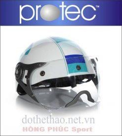 Nón bảo hiểm Protect Hiway trắng có kính