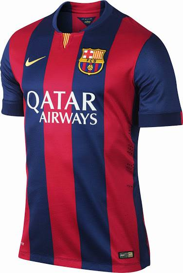 mẫu áo bóng đá clb Barcelona sân nhà mùa giải 2014-2015
