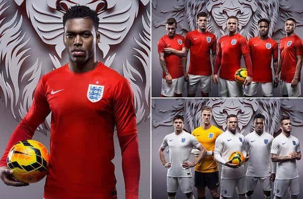 Sáng 31/3, Liên đoàn bóng đá Anh đã chính thức cho trình làng trang phục của ĐT Anh tại World Cup 2014 trên đất Brazil.