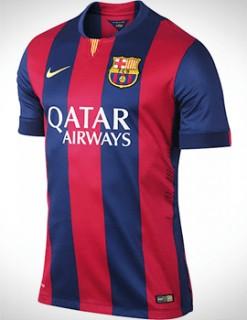 ÁO BÓNG ĐÁ CLB BARCELONA SÂN NHÀ 2014-2015