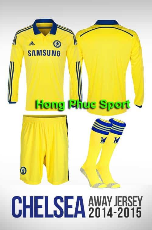 Bộ quần áo Chelsea 2014-2015 sân khách tay dài
