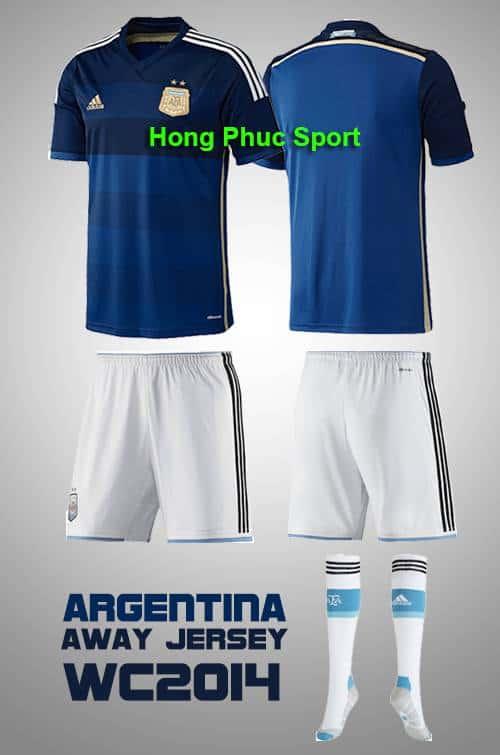 Bộ quận áo tuyển argentina world cup 2014