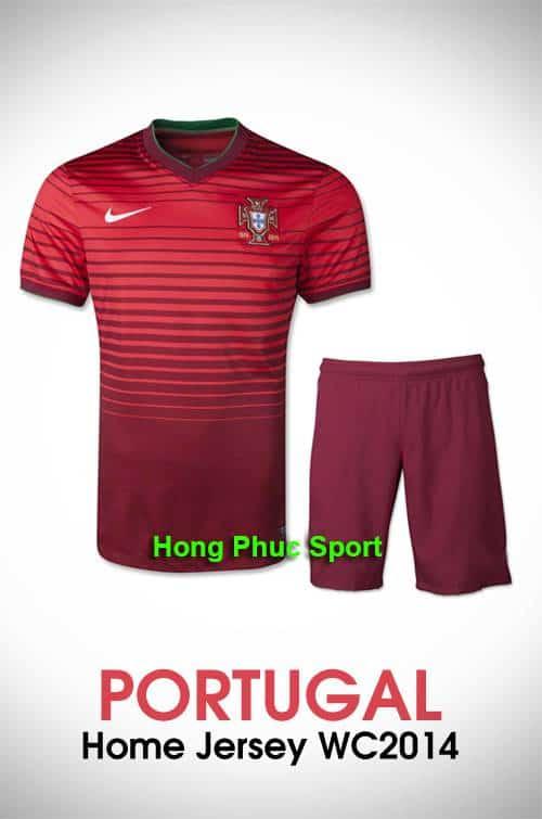 áo bóng đá đội tuyển Bồ Đào Nha sân nhà 2014