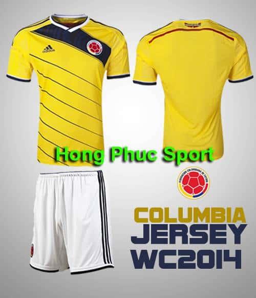 Áo tuyển Columbia World Cup 2014 sân khách
