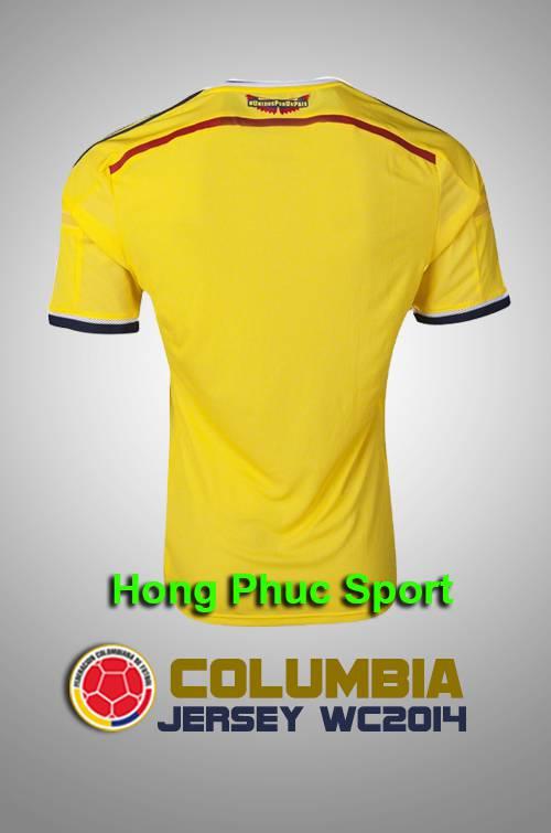 Mặt Sau Áo Đá Bóng Đội Tuyển Colombia World Cup 2014