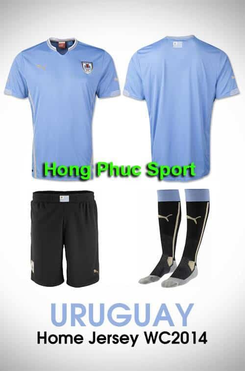Mẫu áo bóng đá đội tuyển Uruguay thi đấu World Cup 2014
