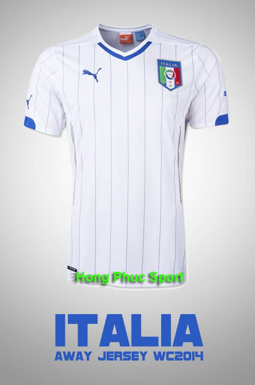 Áo tuyển Ý WC2014 sân khách
