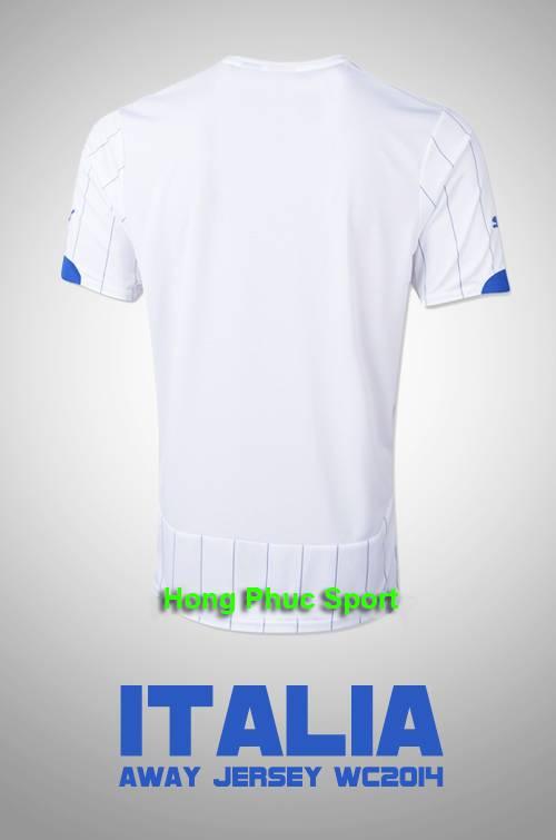 Áo tuyển Ý WC2014  mặt sau sân khách