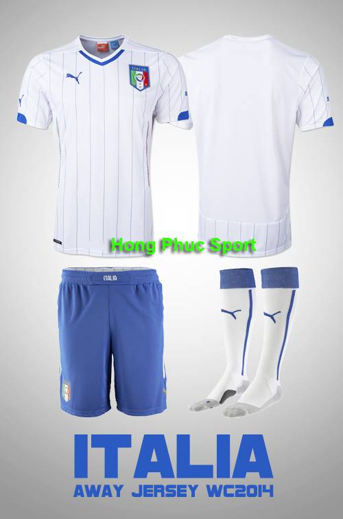 Bộ quần áo tuyển Ý World Cup 2014 Sân khách