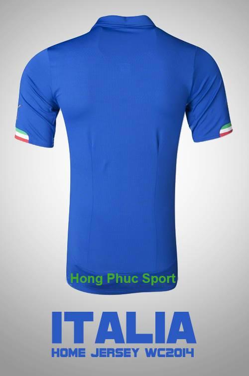 Mặt sau mẫu áo bóng đá đội tuyển Italia sân nhà thi đấu Worldcup 2014