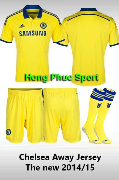 Bộ quần áo Chelsea sân khách 2014-2015