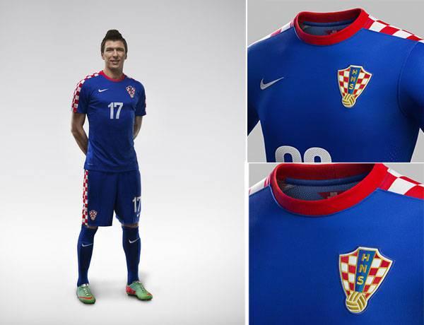 Tiền đạo số 1 đội tuyển Croatia trong trang phục thi đấu World Cup 2014