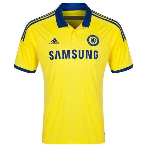 Mẫu áo bóng đá CLB Chelsea sân khách 2014-2015