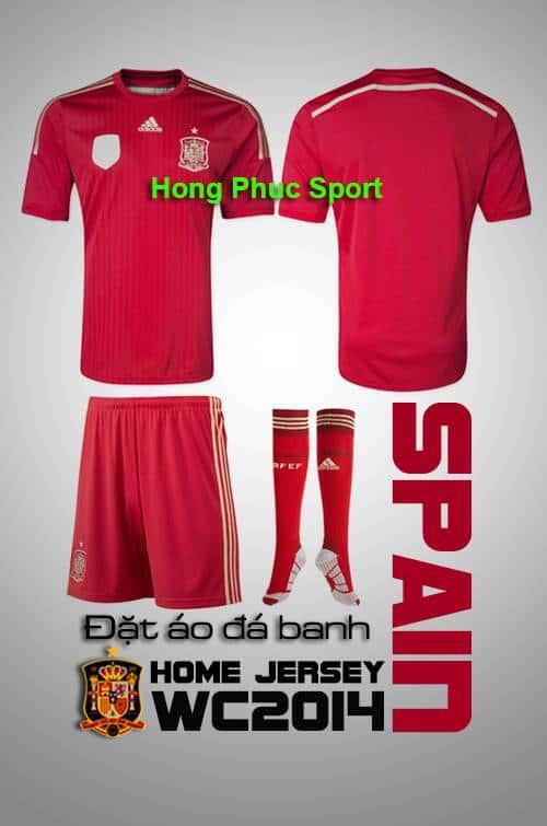 Bộ quần áo tuyển Tây Ban Nha World Cup 2014