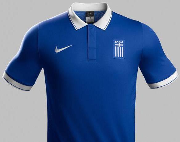 Áo bóng đá Hy Lạp FIFA World Cup 2014 sân khách