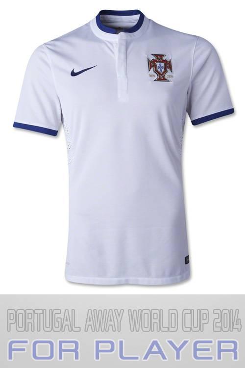 Mặt trước áo tuyển Bồ Đào Nha World Cup 2014 sân khách