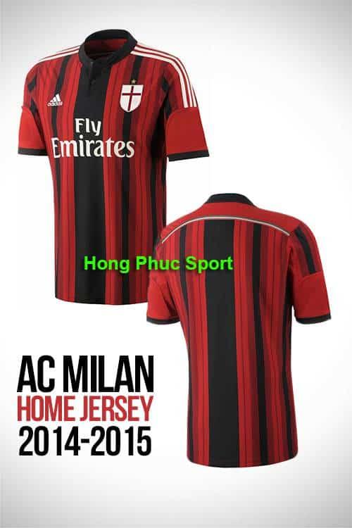 Bộ quần áo AC Milan 2014-2015 sân nhà