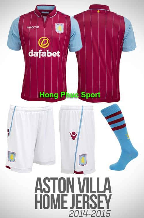 áo Aston Villa 2014-2015 sân nhà
