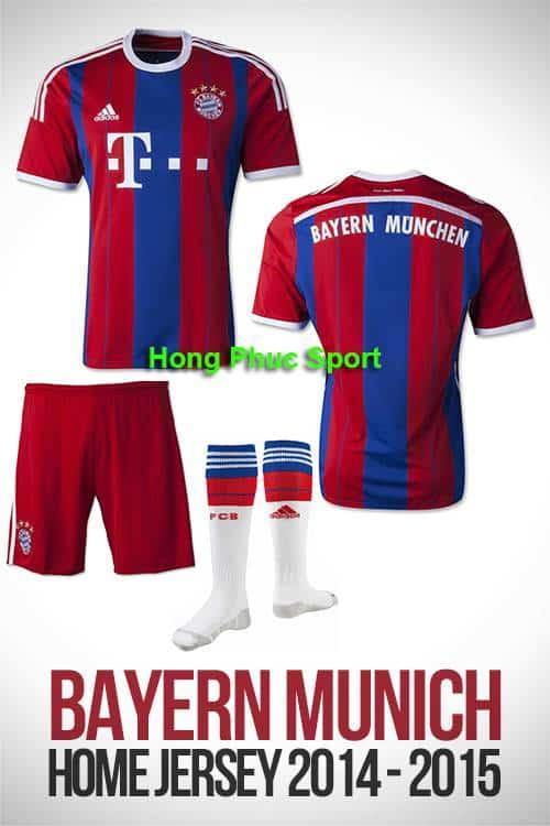 Mẫu áo Bayern Munich 2015 sân nhà