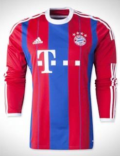 Áo Bayern Munich 2014-2015 sân nhà tay dài
