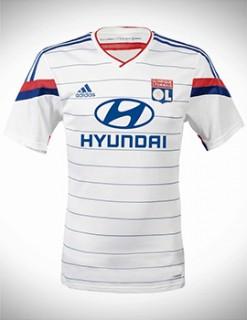Áo Lyon 2014-2015 sân nhà, áo Olympic Lyon sân nhà 2014-2015, áo đá banh Lyon 2014-2015 sân nhà, áo bóng đá Lyon 2014-2015 sân nhà