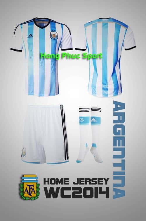 Bộ quần Áo tuyển Argentina Worldcup 2014