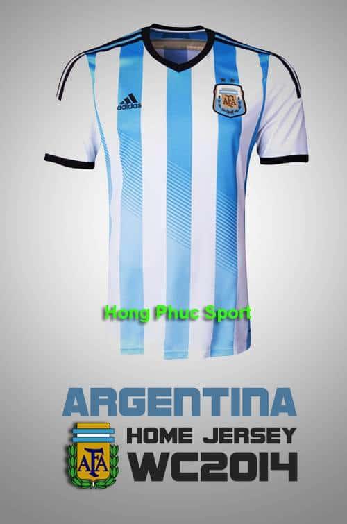 Mặt trước Áo tuyển Argentina Worldcup 2014