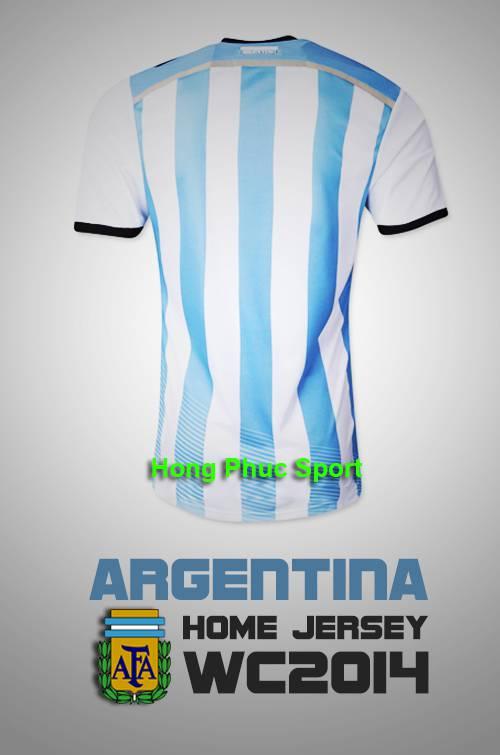 Mặt sau Áo tuyển Argentina Worldcup 2014
